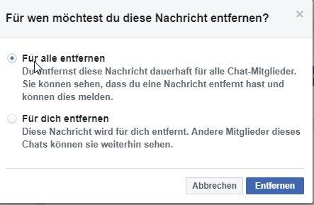 wie kann man facebook messenger kontakte löschen