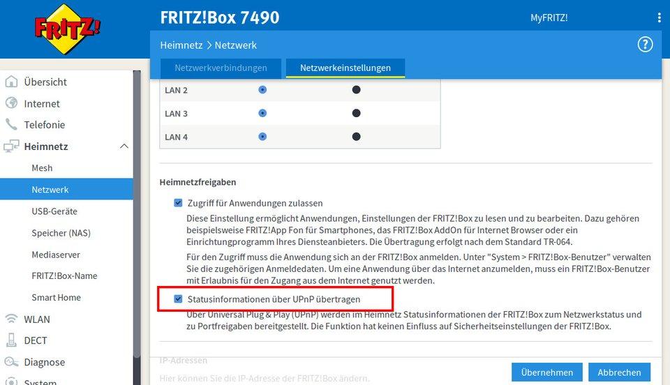Fritzbox Nat Typ ändern Pc