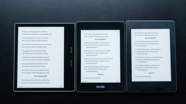 Kindle Paperwhite (2018) im Vergleich: Welchen E-Book-Reader