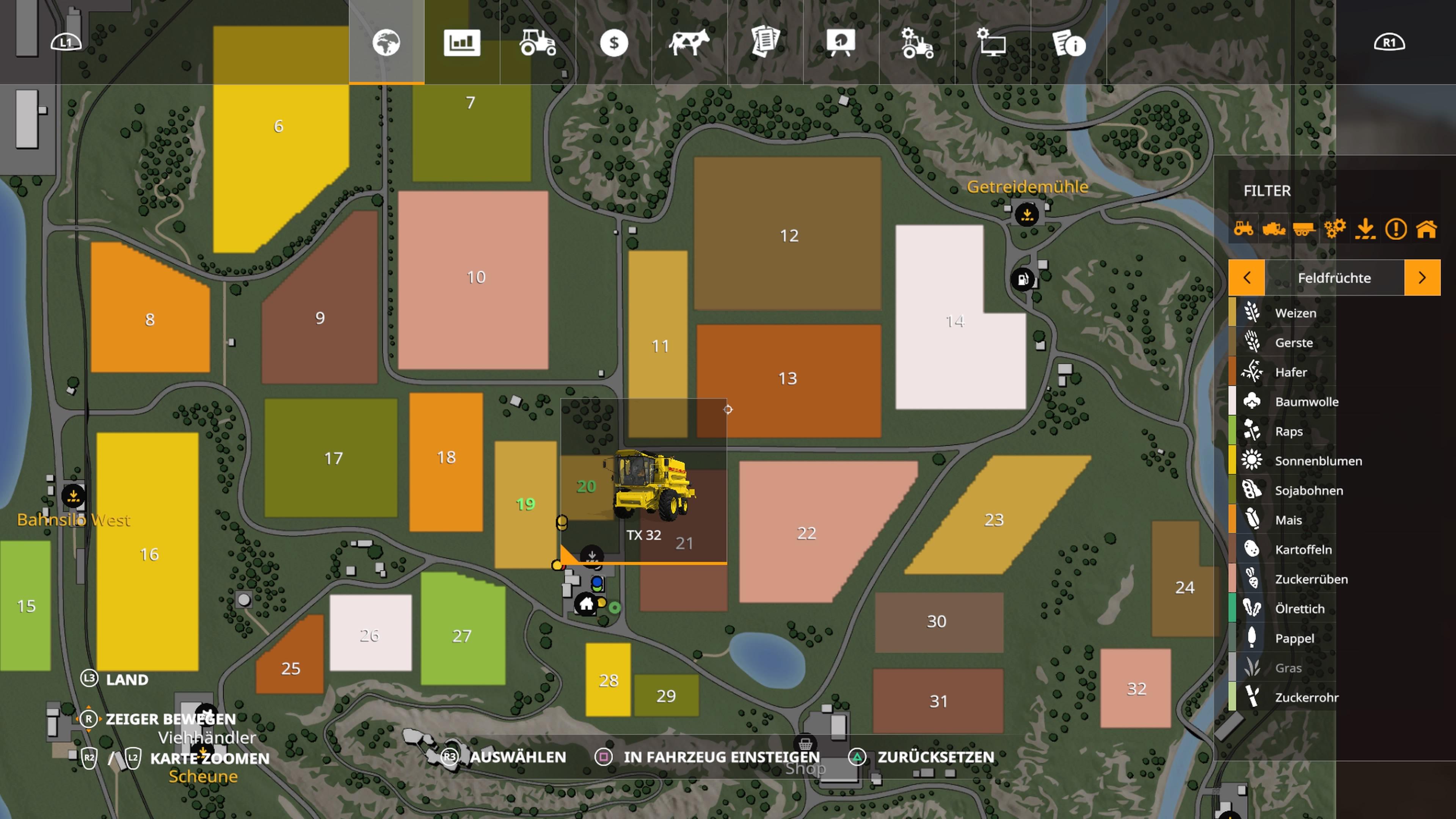 Landwirtschafts Simulator 19 Alle Symbole Erklart Karte Handler