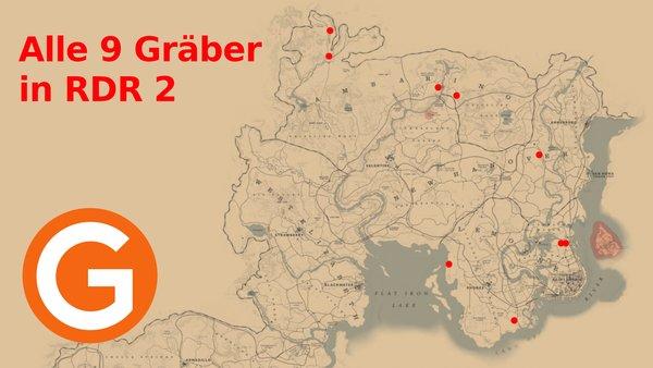 Rdr2 Karte.Red Dead Redemption 2 Alle Gräber Fundorte Für Respekt Zollen