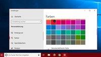 Windows 10: Farbe der Taskleiste ändern – so geht's