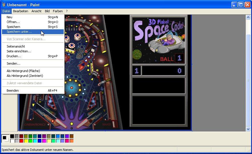 screenshot windows xp tastenkombination