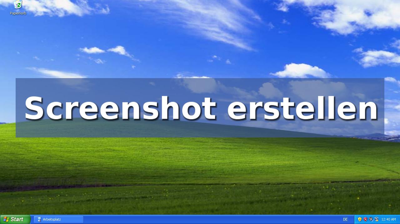 screenshot in xp