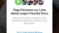"""Instagram: """"Enge Freunde"""" in eine Liste aufnehmen"""