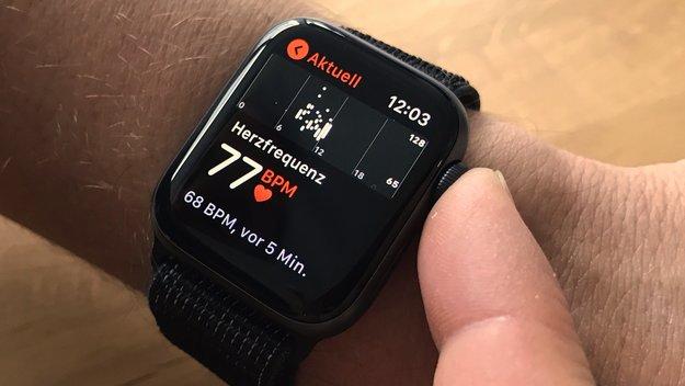 Apple Watch Series 4: Schneller Herzfrequenz messen mit der Smartwatch
