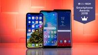 Smartphone-Awards 2018: Wählt mit GIGA das beste Handy des Jahres