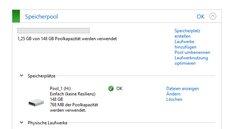 Windows 10: Festplatten zusammenfügen (Speicher-Pool) – so geht's