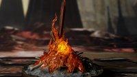 Dark Souls: Für 100 Euro bekommt ihr bloß die Figur von einem Schwert im Feuer