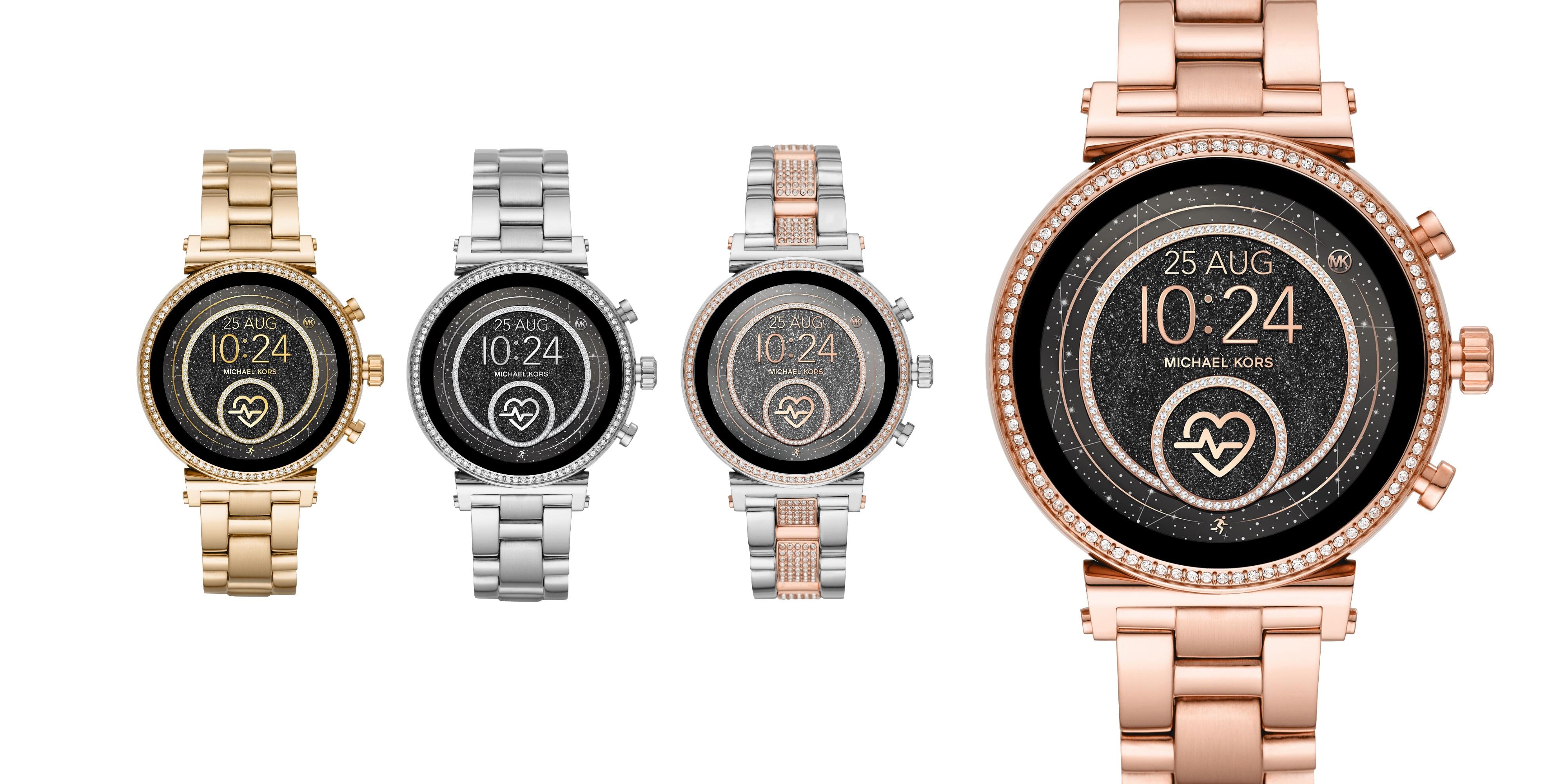 f2b4b1d9b74 Die Sofie 2.0 Smartwatch von Michael Kors erscheint im Sommer 2019 in vier  Farbvarianten (Quelle: Hersteller).