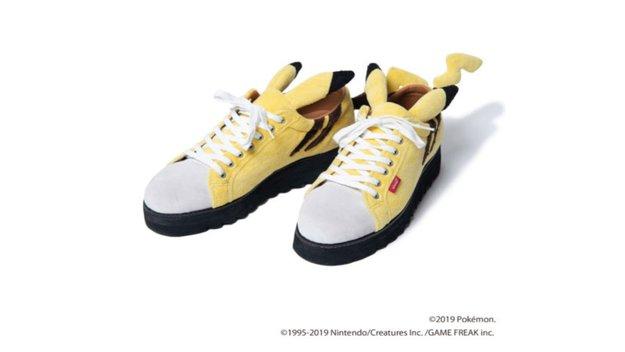 Pikachu-Sneaker mit kuscheligem Fell und Ohren - so süß!