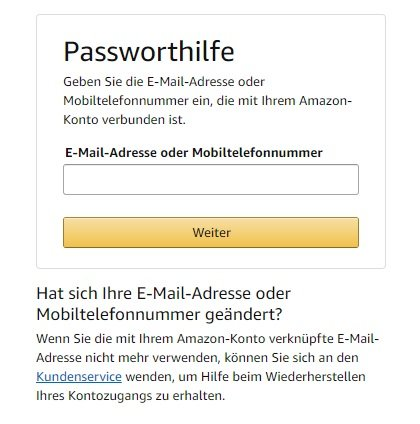 amazon-passworthilfe