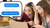 26 Betrunkene, die zu viel Promille für WhatsApp hatten