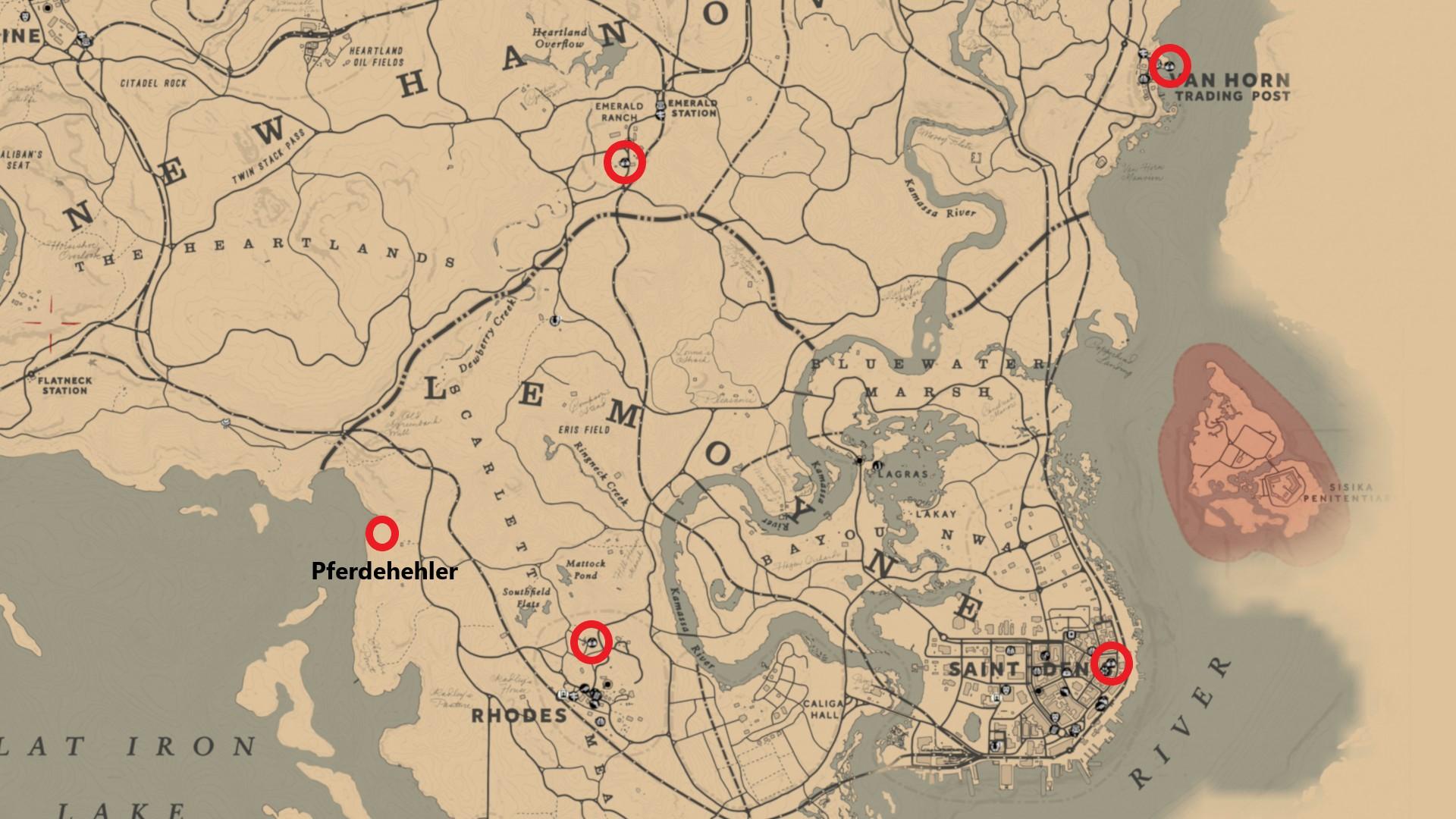 Rdr2 Karte.Red Dead Redemption 2 Hehler Finden Karte Mit Fundorten