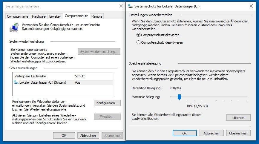 Windows 10 Computerschutz Aktivieren Cmd