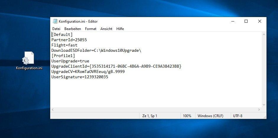 Dies ist ein Beispiel einer INI-Datei des Betriebssystems Windows. Bild: GIGA