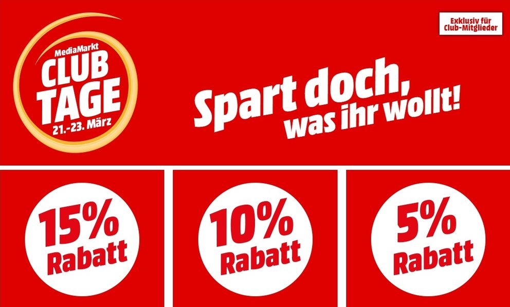 """c7882aad1755f4 MediaMarkt """"Club-Tage"""" im Preis-Check  Die besten Deals im Überblick"""