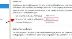 Fritzbox: Blacklist öffnen &  Einträge hinzufügen – so geht's