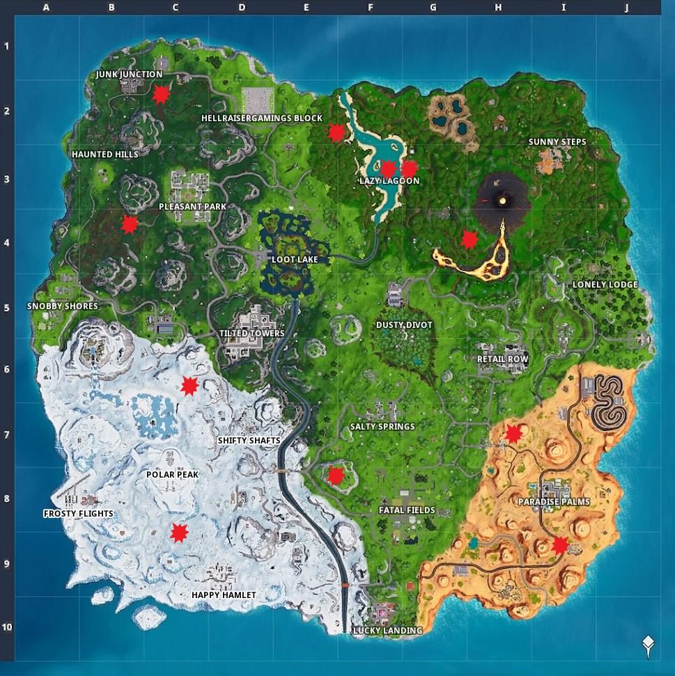 Fortnite Alle Piratenkanonen Fundorte Auf Der Karte Season 8 - die fundorte aller moglichen spawn punkte der kanonen haben wir fur euch auf der folgenden karte markiert fundorte von piratenkanonen in fortnite