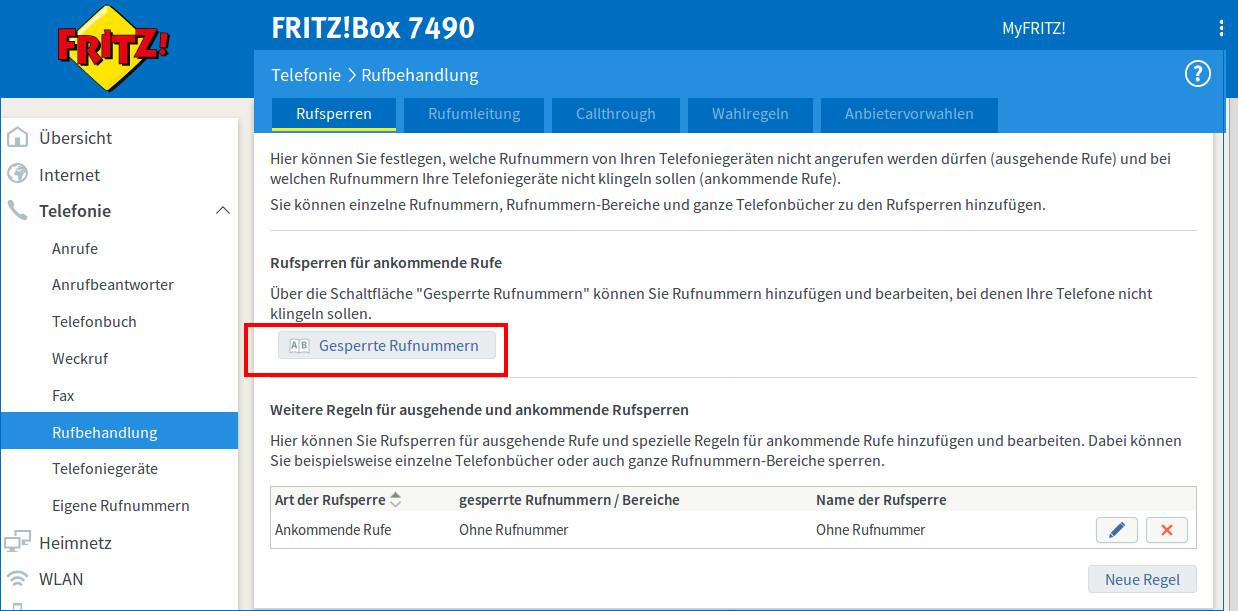 Fritzbox Telefonnummer Nicht Registriert