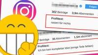 27 Gründe, warum Instagram-Profilsprüche zum Schlapp-Lachen sind