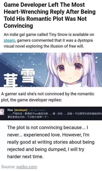 Spieler Kümmern Sich Rührend Um Entwickler Der Niemals Liebe