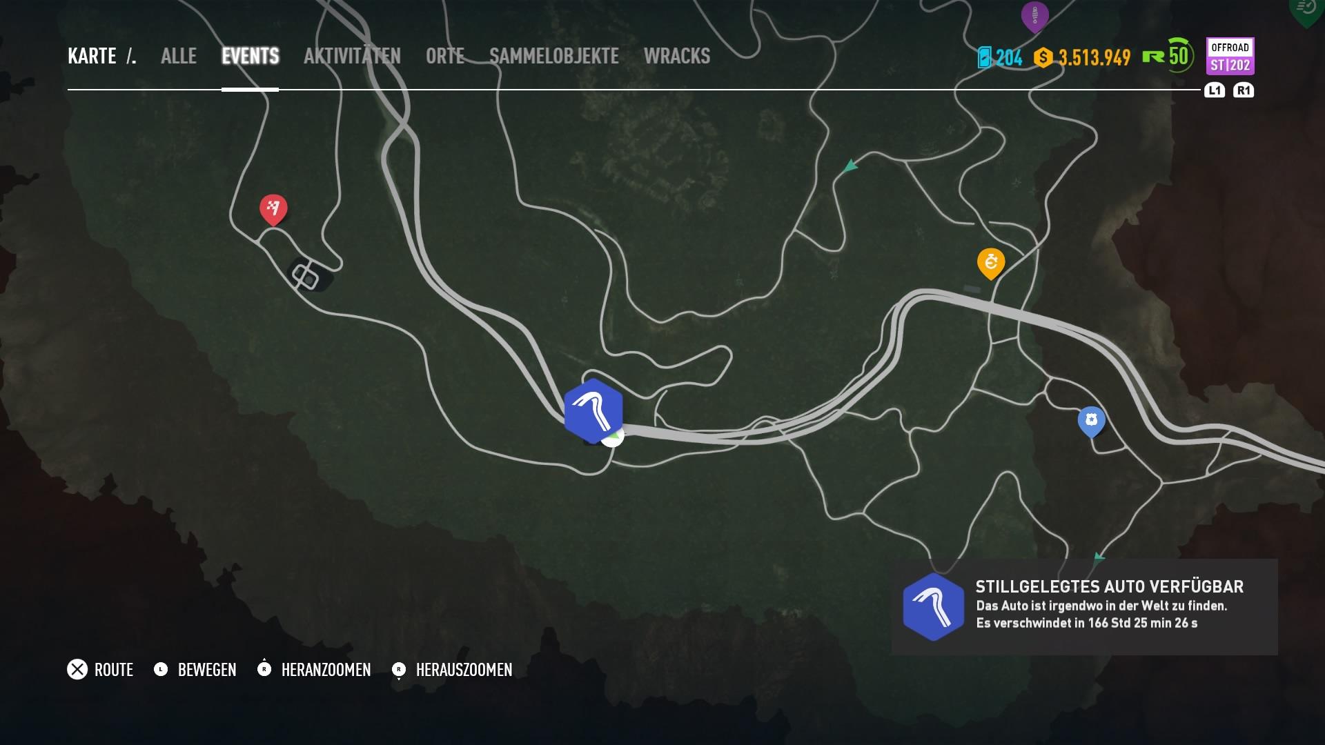 Payback Mini Karte.Need For Speed Payback Stillgelegte Autos Fundorte Auf Der Karte
