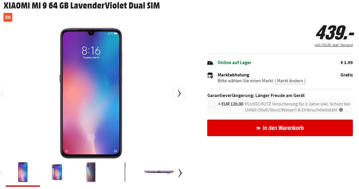 Xiaomi Mi 9 In Deutschland Kaufen Mediamarkt Reduziert Preis Und