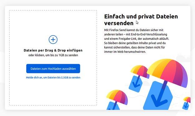 Firefox Send: Dateien bis 2,5 GB verschlüsselt verschicken – so geht's