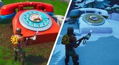Fortnite: Große Telefone für Burger- und Pizza-Nummern - Fundorte (Season 8, Woche 8)