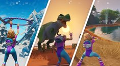 Fortnite: Tanze zwischen Eisskulpturen, Dinosauriern und heißen Quellen - Fundorte (Season 8, Woche 9)