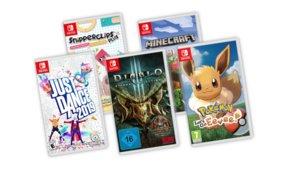 Pokémon: Let's Go, Diablo 3 und mehr: 5 Switch-Spiele für 100 Euro bei Amazon