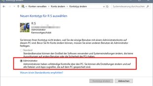 Windows 10: Administrator ändern – so geht's