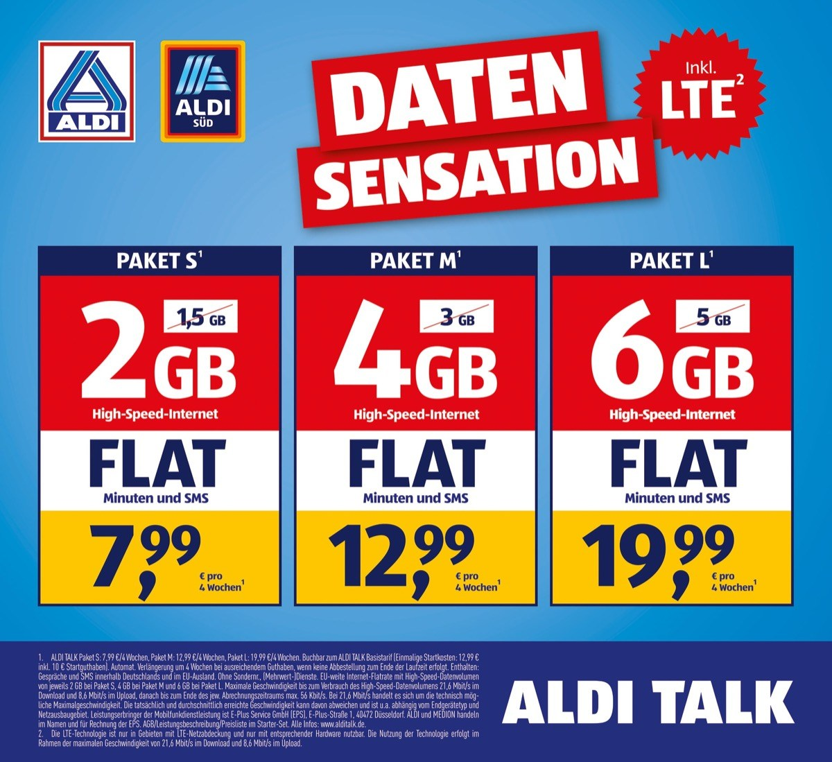 Aldi Talk Sim Karte Kaufen.Aldi Talk Ab Heute Kostenlos Mehr Lte Datenvolumen Das ändert