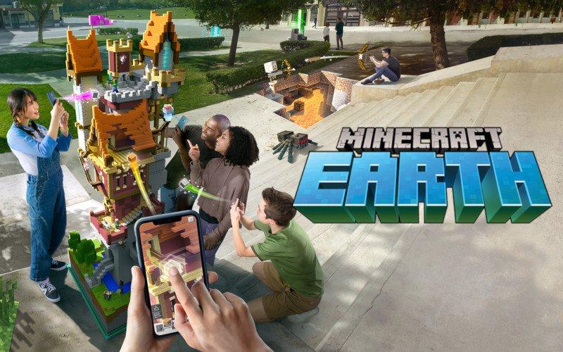 Minecraft Earth: Augmented Reality-App soll Pokémon GO Konkurrenz machen