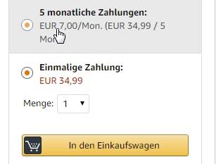 Amazon Ratenzahlung So Klappts