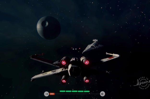 Mit dem X-Wing auf TIE Fighter-Jagd – Dreams macht es möglich und es sieht echt gut aus