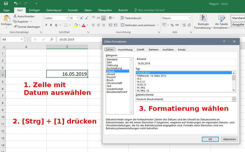 Excel Datum