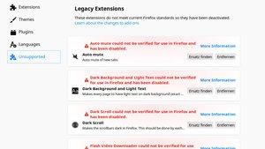 Lösung – Firefox: Alle Add-ons konnten nicht verifiziert werden und wurden deaktiviert