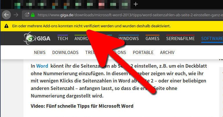 Lösung – Firefox: Alle Add-ons konnten nicht verifiziert