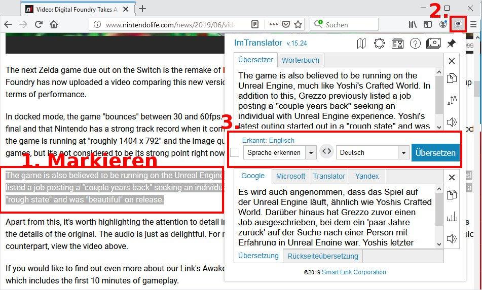 Webseite übersetzen Firefox