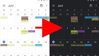 Google Kalender: Dark-Mode aktivieren – so geht's