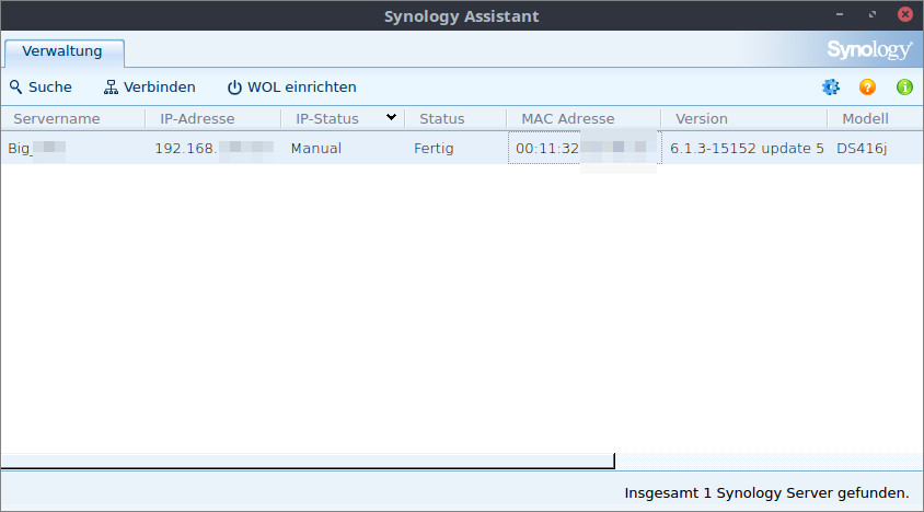 Synology Assistant Windows 10
