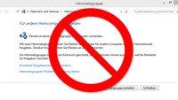 Heimnetzgruppen wurden aus Windows 10 entfernt | Warum? Was tun?