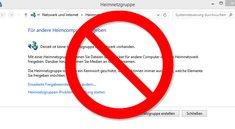 Heimnetzgruppen wurden aus Windows 10 entfernt   Warum? Was tun?