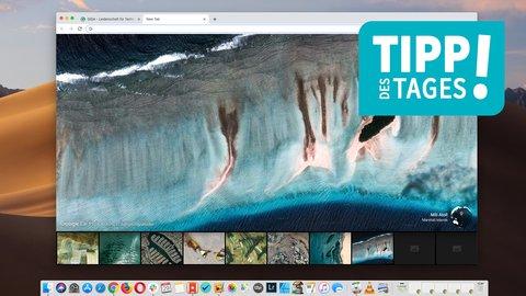 Google Chrome: Wallpaper für den