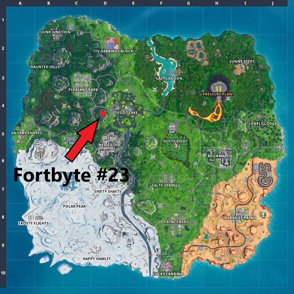 Fortnite Fortbyte 23 Fundort Auf Der Karte Season 9