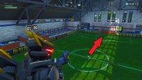 Fortnite: Hallenfußballfeld zum Tore schießen - Fundort auf der Karte