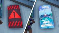 Fortnite: Schilder mit öffentlichen Ankündigungen - Fundorte (Season 9, Woche 10)