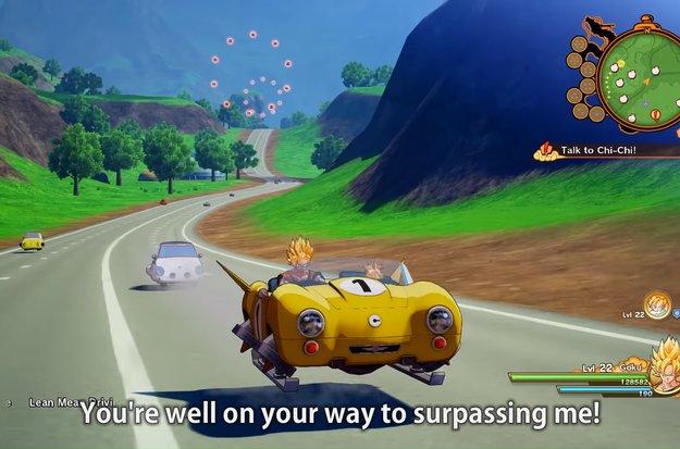 In Dragon Ball Z: Kakarot darfst du mit Son Goku den Führerschein machen und dich maßlos vollfressen
